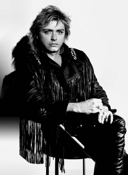 Wall Art - Photograph - Benjamin Orr Portrait - Co-founder The Cars Band by Daniel Hagerman