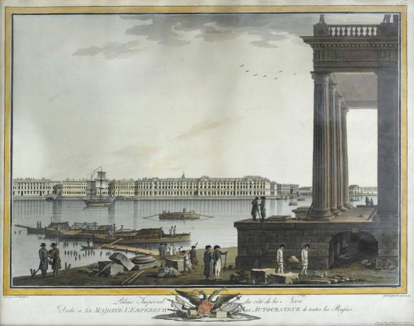 Wall Art - Painting - Benjamin Paterssen  Patersson Gothenburg C. 1748-1815 St. Petersburg Imperial Palace On The Side Of  by Celestial Images