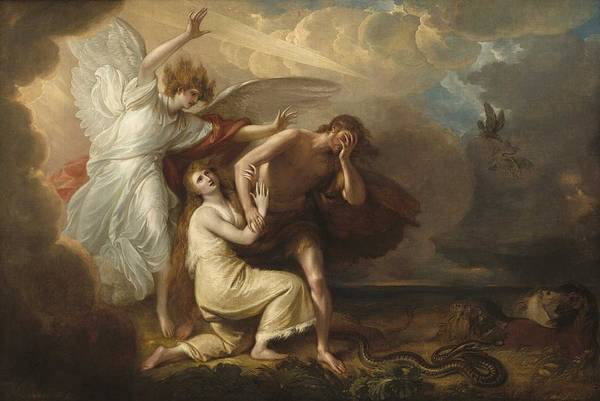 Wall Art - Painting - Benjamin West  The Expulsion Of Adam And Eve From Paradise  1791  by Benjamin West