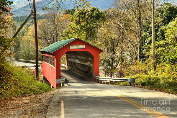 Photograph - Bennington Chiselville Covered Bridge by Adam Jewell