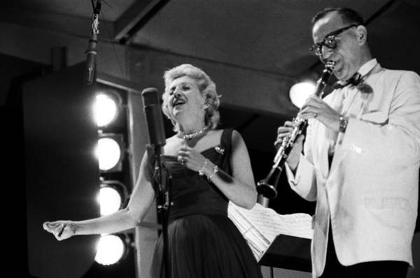 Singer Island Photograph - Benny Goodman Performs At The Newport by Michael Ochs Archives