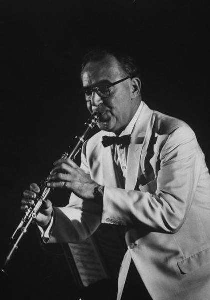 Clarinet Wall Art - Photograph - Benny Goodman by Stan Wayman