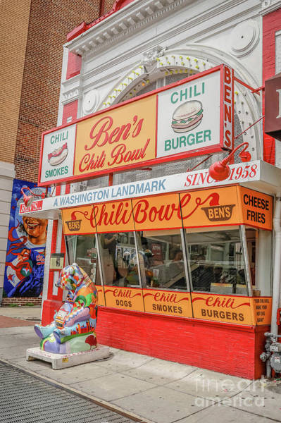 Wall Art - Photograph - Ben's Chili Bowl A Washington Landmark Since 1958 by Edward Fielding