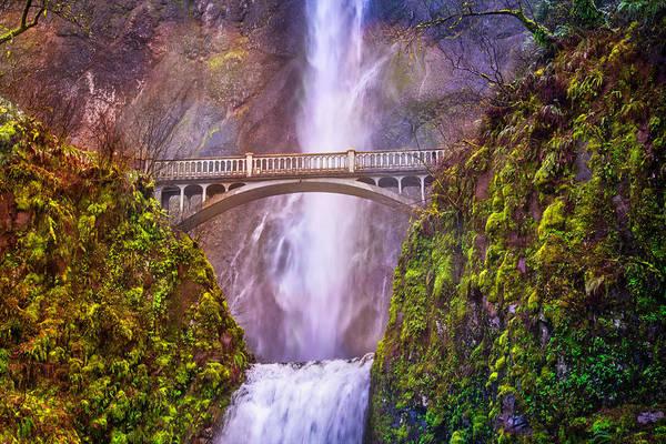 Photograph - Benson Footbridge At Multnomah Falls by Lynn Bauer