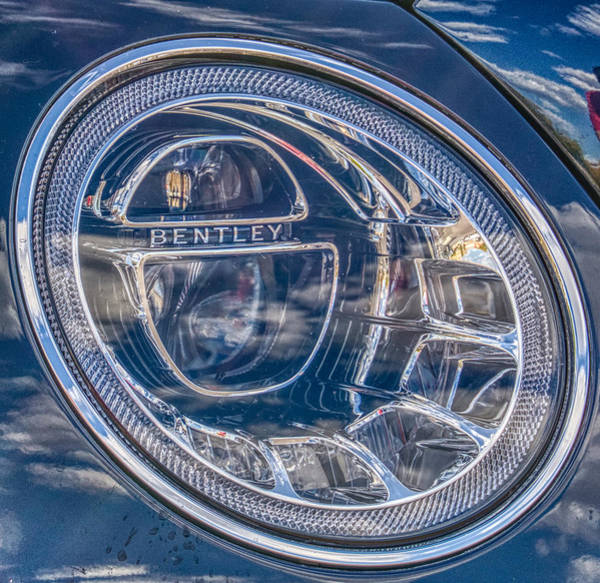 Photograph - Bentley Bentayga Headlight by Ants Drone Photography