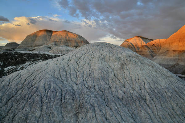 Photograph - Bentonite Dunes Of Blue Mesa At Sunset by Ray Mathis