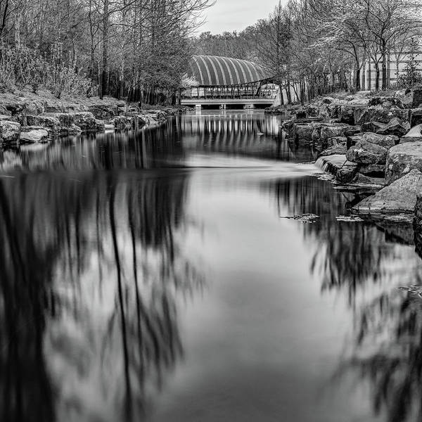 Photograph - Bentonville Crystal Bridges Art Museum - Arkansas Black And White by Gregory Ballos