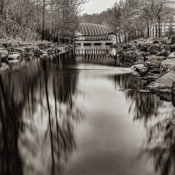Photograph - Bentonville Crystal Bridges Art Museum - Arkansas Sepia by Gregory Ballos