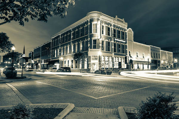 Wall Art - Photograph - Bentonville Skyline Along Central And Main In Sepia by Gregory Ballos