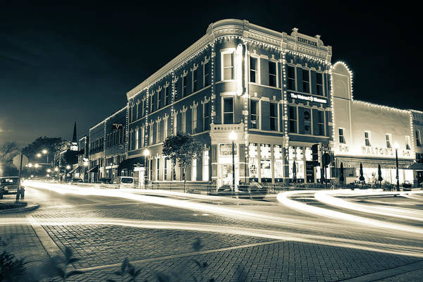Wall Art - Photograph - Bentonville Skyline From Central And Main - Sepia Edition by Gregory Ballos