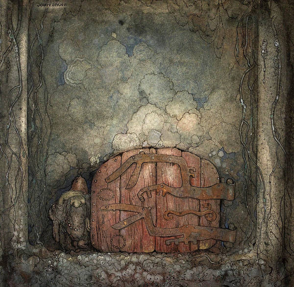 Wall Art - Painting - Bergaporten, 1918 by John Bauer