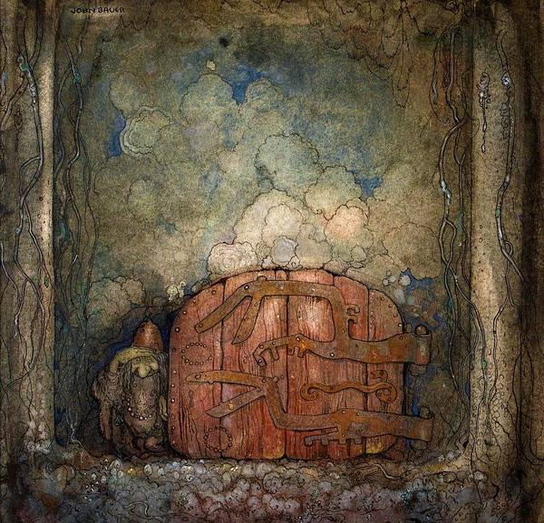 Wall Art - Painting - Bergaporten - Digital Remastered Edition by John Bauer