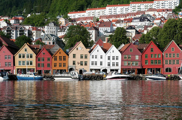 Old Photograph - Bergen Old Town by Ziutograf