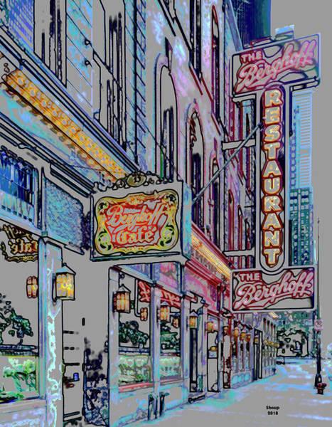 Soda Pop Mixed Media - Bergoff's Restaurant Chicago by Charles Shoup