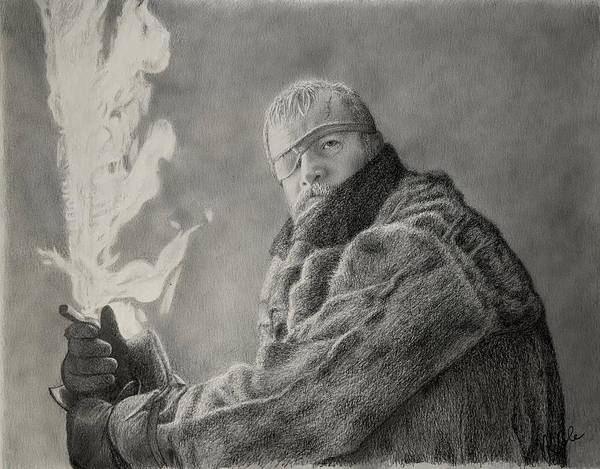 Drawing - Beric Dondarrion Beyond The Wall by Vanessa Cole