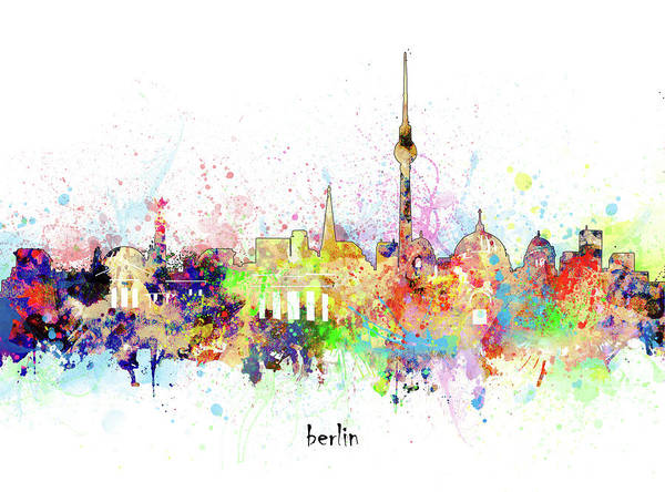 Wall Art - Digital Art - Berlin Artistic by Bekim M