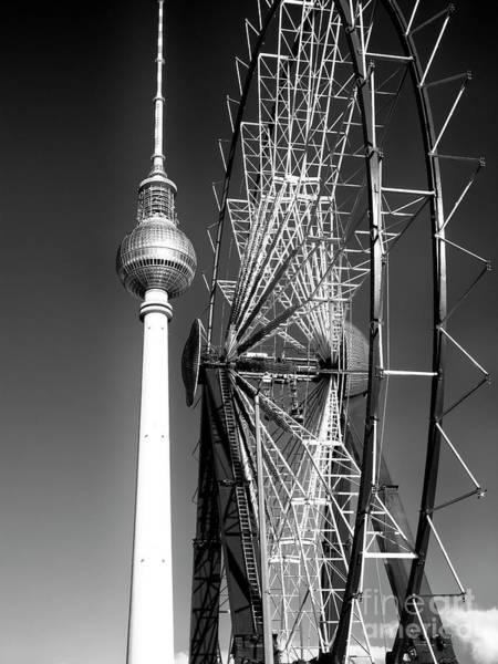 Wall Art - Photograph - Berlin Christmas Market Ferris Wheel by John Rizzuto