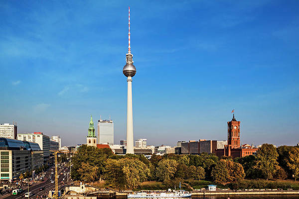 Wall Art - Photograph - Berlin, Germany Fernsehturm Tv Tower by Miva Stock