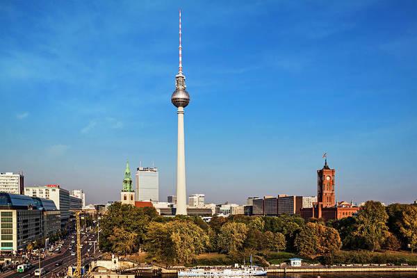 Wall Art - Photograph - Berlin, Germany Fernsehturm Tv Tower by Miva Stock