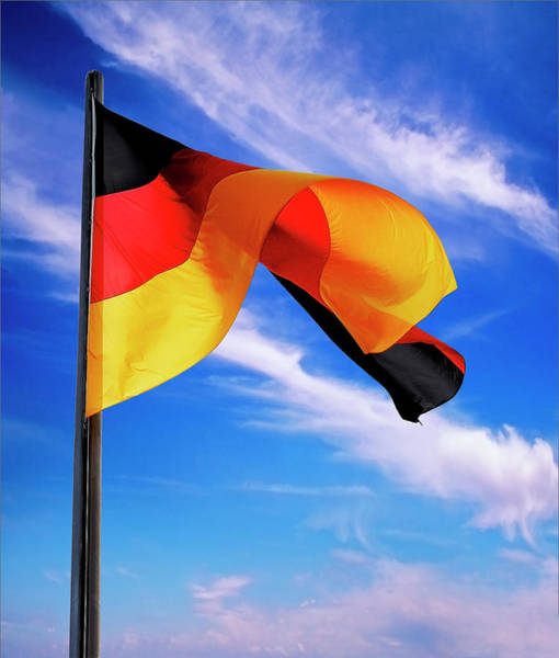 Wall Art - Photograph - Berlin, Germany Flag Of The Federal by Miva Stock