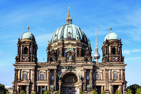 Berlin Cathedral Photograph - Berlin, Germany Museum Island, Berlin by Miva Stock