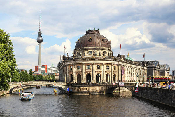 Wall Art - Photograph - Berlin, Germany Sightseeing Boat Sails by Miva Stock