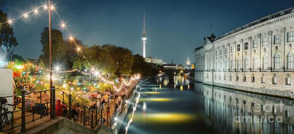 Wall Art - Photograph - Berlin Museumsinsel Summer Nights by JR Photography