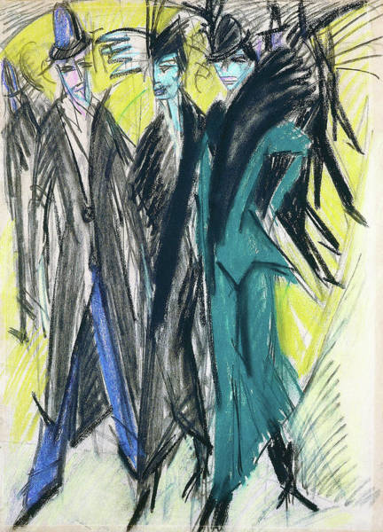 Tropical Drawing - Berlin Street Scene - Digital Remastered Edition by Ernst Ludwig Kirchner