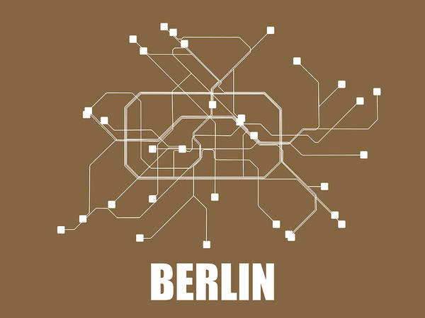 Wall Art - Digital Art - Berlin Subway Map 2 by Naxart Studio