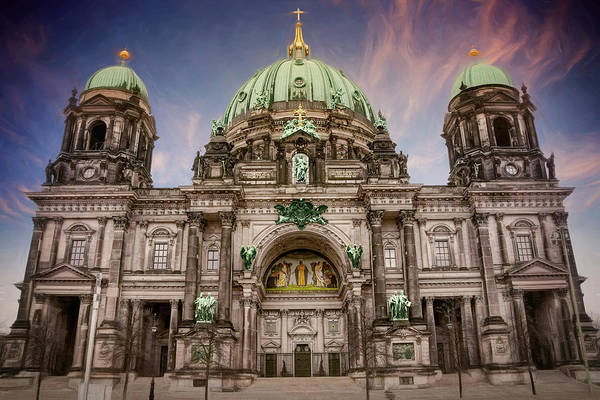 Berlin Cathedral Photograph - Berliner Dom Berlin Germany  by Carol Japp