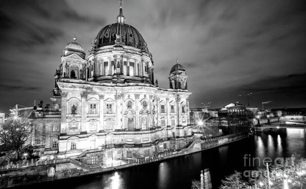 Wall Art - Photograph - Berliner Dom Calm At Night by John Rizzuto