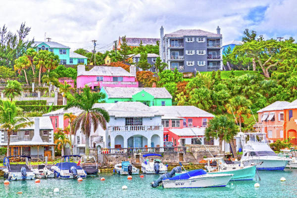 Wall Art - Digital Art - Bermuda Color Parade Flatts Village by Betsy Knapp