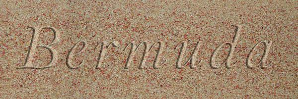 Wall Art - Photograph - Bermuda Pink Sand Beach Text by Betsy Knapp