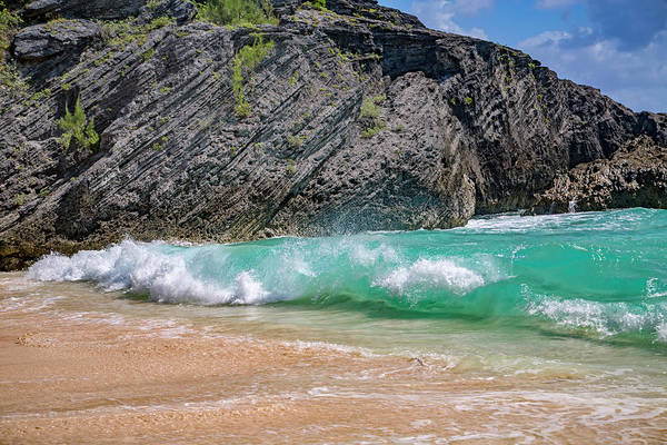 Wall Art - Photograph - Bermuda Rock Roll And Wave by Betsy Knapp