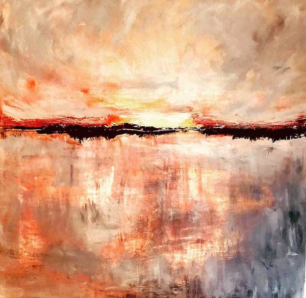 Wall Art - Painting - Bermuda Sunset  by Julia S Powell