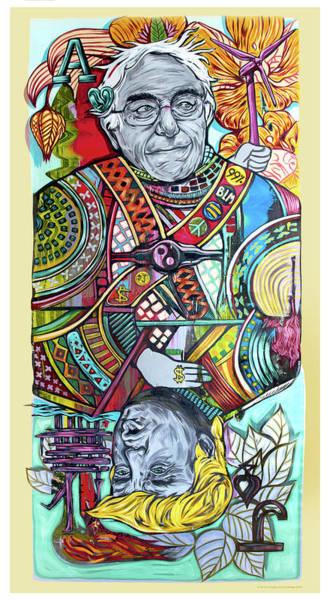 Painting - Bern The Trump Card by Sir Tom Foolery