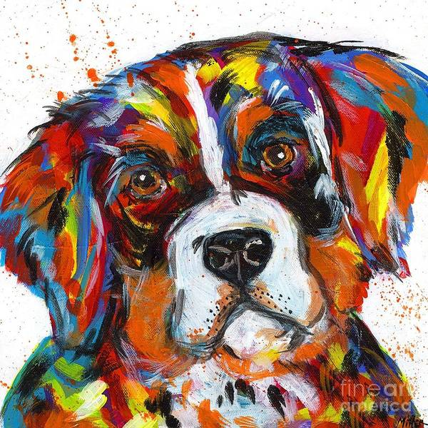Wall Art - Painting - Bernese Mountain Dog by Tracy Miller
