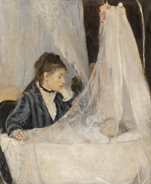 Wall Art - Painting - Berthe Morisot Le Berceau The Cradle. Date/period 1872. Painting. Oil On Canvas. by Berthe Morisot
