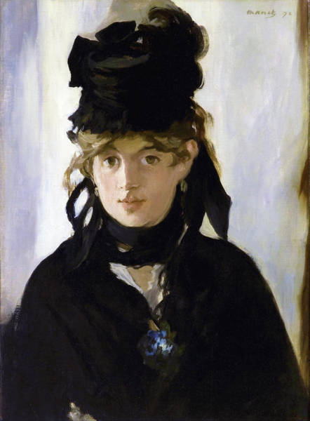 Wall Art - Painting - Berthe Morisot With A Bouquet Of Violets - Digital Remastered Edition by Edouard Manet