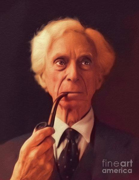 Philosopher Wall Art - Painting - Bertrand Russell, Philosopher by John Springfield