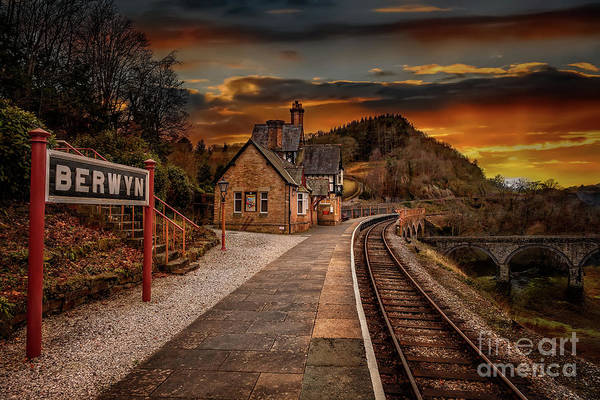Wall Art - Photograph - Berwyn Railway Station Sunset by Adrian Evans