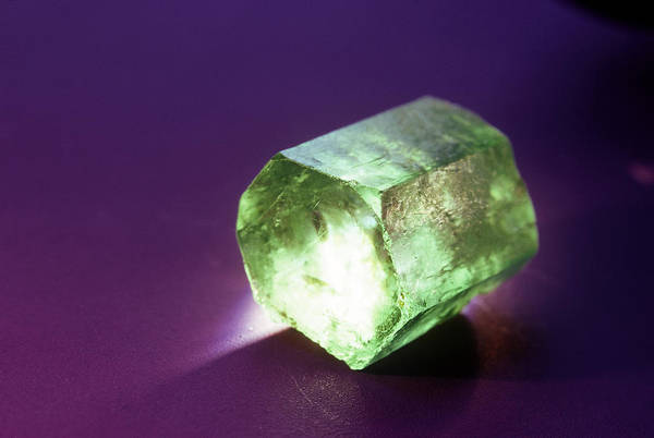 Wall Art - Photograph - Beryl, Variety Emerald, From Colombia by Joel E. Arem