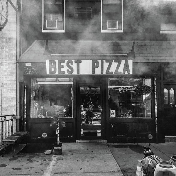 Storefront Photograph - Best Pizza by Michael Gerbino