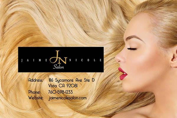 Hair Stylist Mixed Media - Best Unisex Salon In Vista Ca by Jaime Nicole