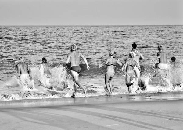 Photograph - Bethany Beach Lifeguards Last Swim by Kim Bemis