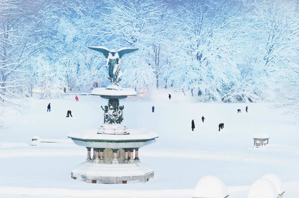 Bethesda Fountain Photograph - Bethesda Fountain, Central Park, In by Mitchell Funk