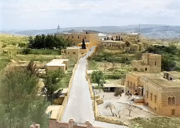Wall Art - Photograph - Bethlehem University Street In Colors 1950 by Munir Alawi