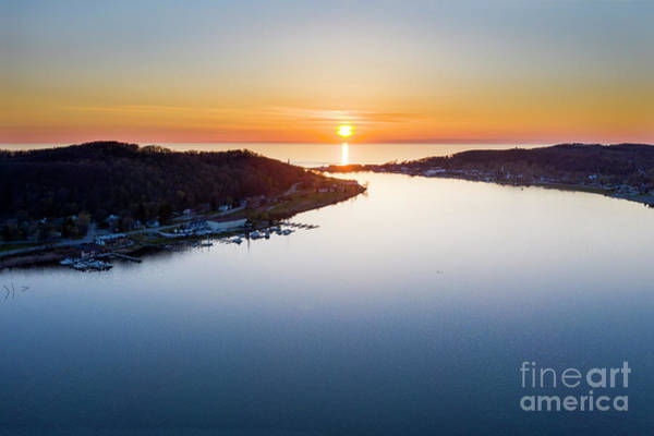 Wall Art - Photograph - Betsie Bay Aerial by Twenty Two North Photography