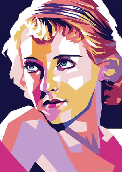 Wall Art - Digital Art - Bette Davis Pop Art by Stars-on- Art