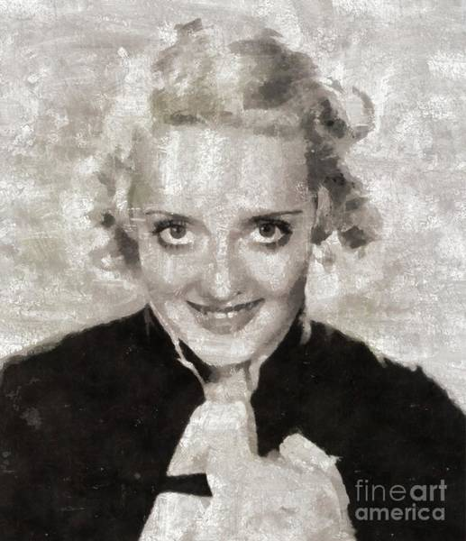Wall Art - Painting - Bette Davis, Vintage Movie Star by Mary Bassett